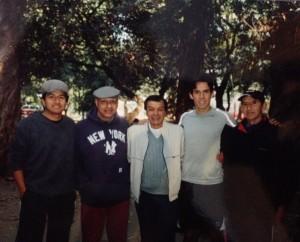 Alberto Cossio au Parc de Chapultepec avec entre autres les Matadors David Silveti et Luis Conrado.